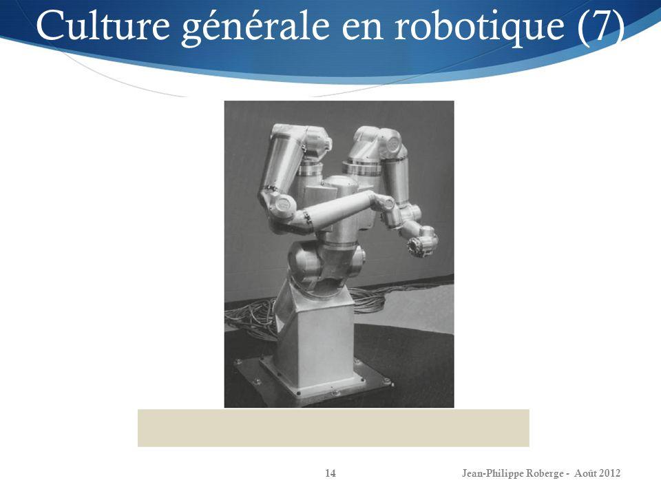 Jean-Philippe Roberge - Août 201214 Culture générale en robotique (7)