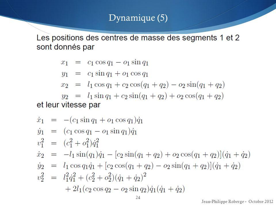 24 Dynamique (5) Jean-Philippe Roberge - Octobre 2012