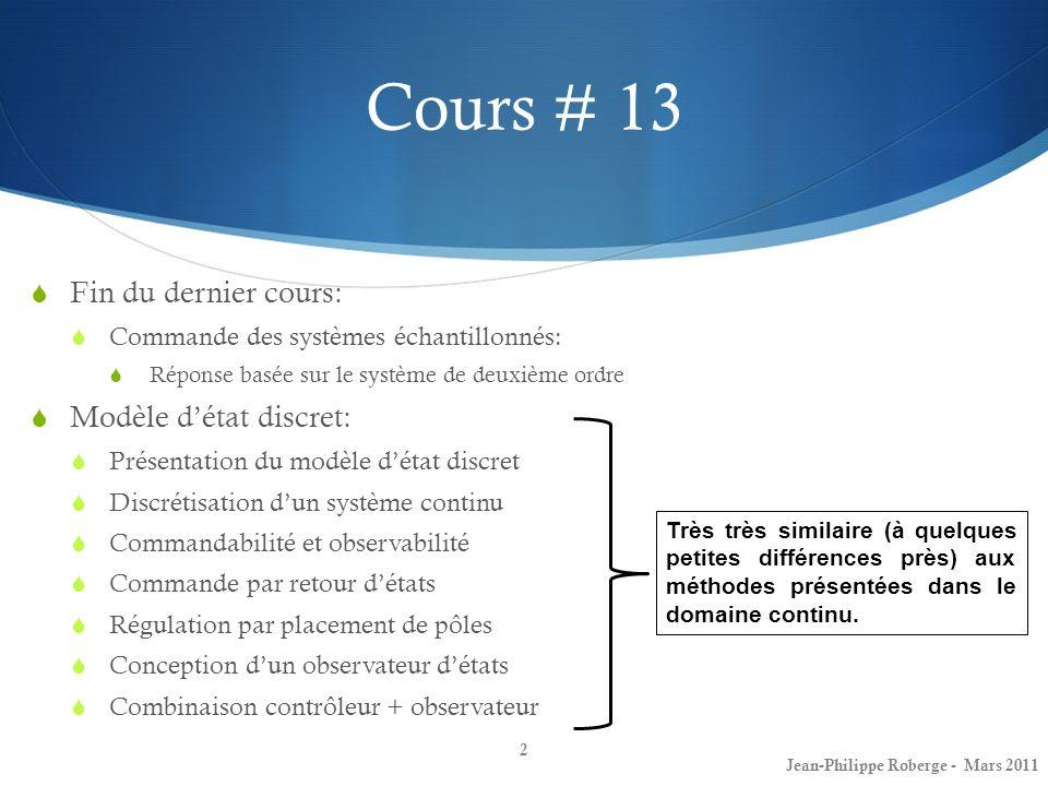 2 ième application (III) Voiture semi-automatisée (tirée de [1]) 63 Capteurs photographiques infrarouges: Jean-Philippe Roberge - Mars 2011