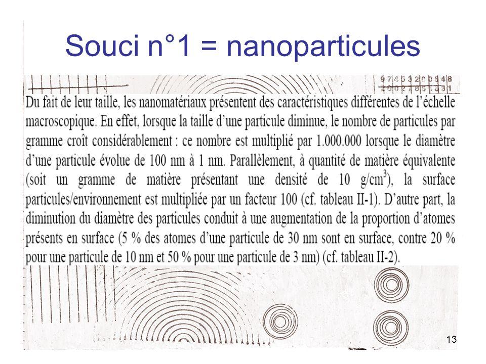 13 Souci n°1 = nanoparticules