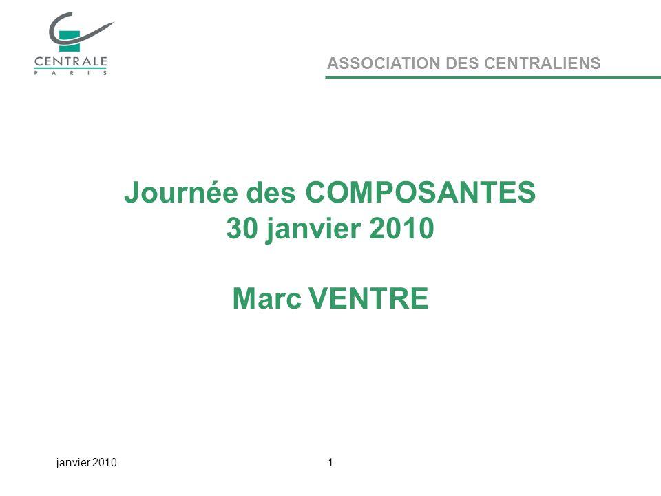 ASSOCIATION DES CENTRALIENS janvier 20101 Journée des COMPOSANTES 30 janvier 2010 Marc VENTRE