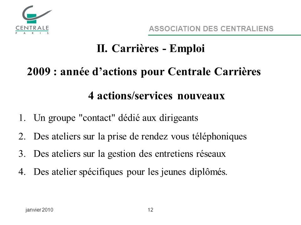 ASSOCIATION DES CENTRALIENS janvier 201012 II.