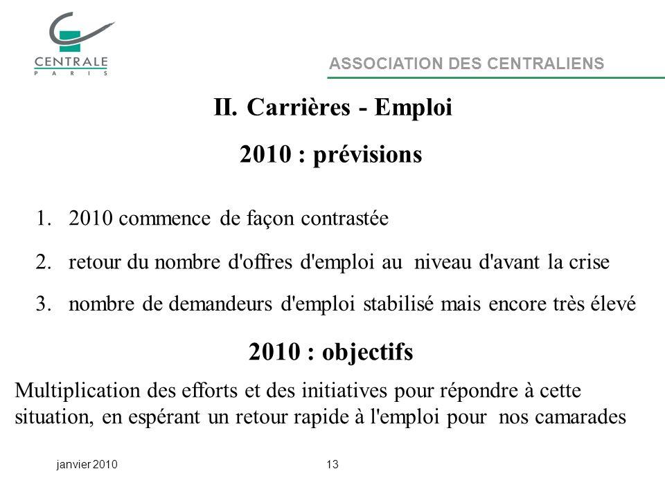 ASSOCIATION DES CENTRALIENS janvier 201013 II.