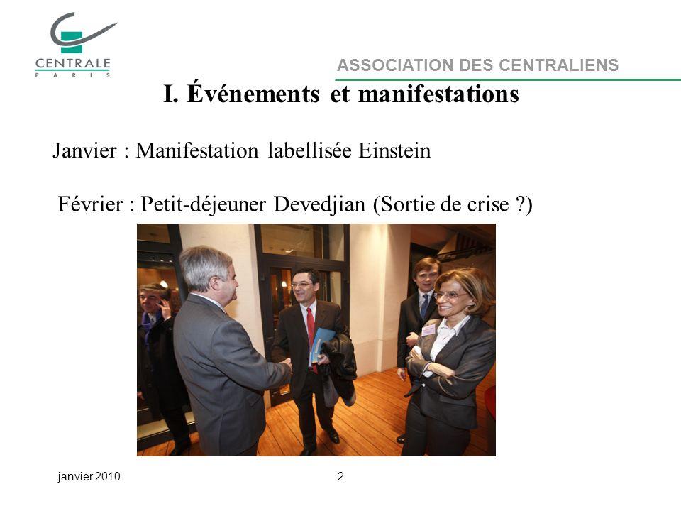ASSOCIATION DES CENTRALIENS janvier 20102 I.