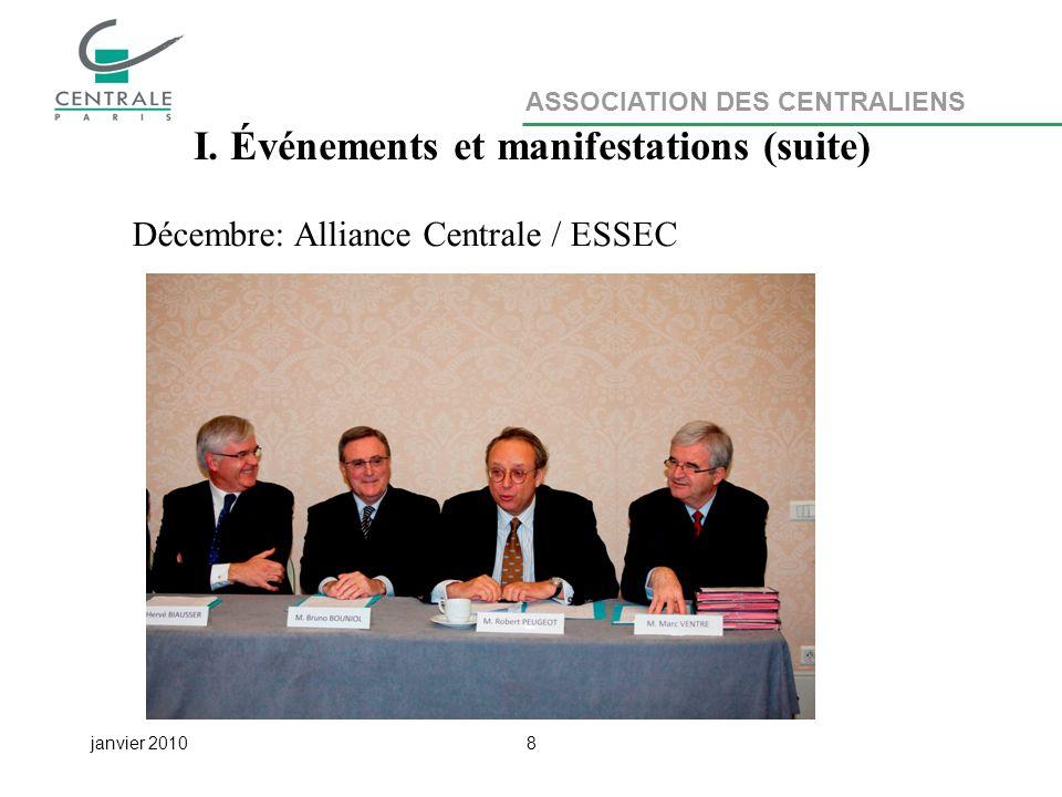 ASSOCIATION DES CENTRALIENS janvier 20108 I.