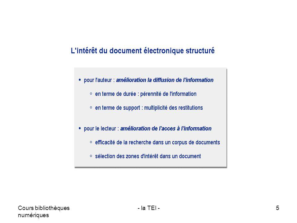 Cours bibliothèques numériques - la TEI -5