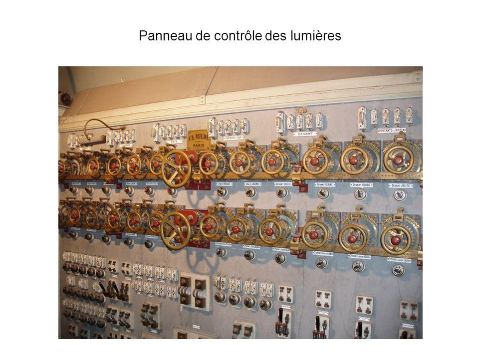 Panneau de contrôle des lumières