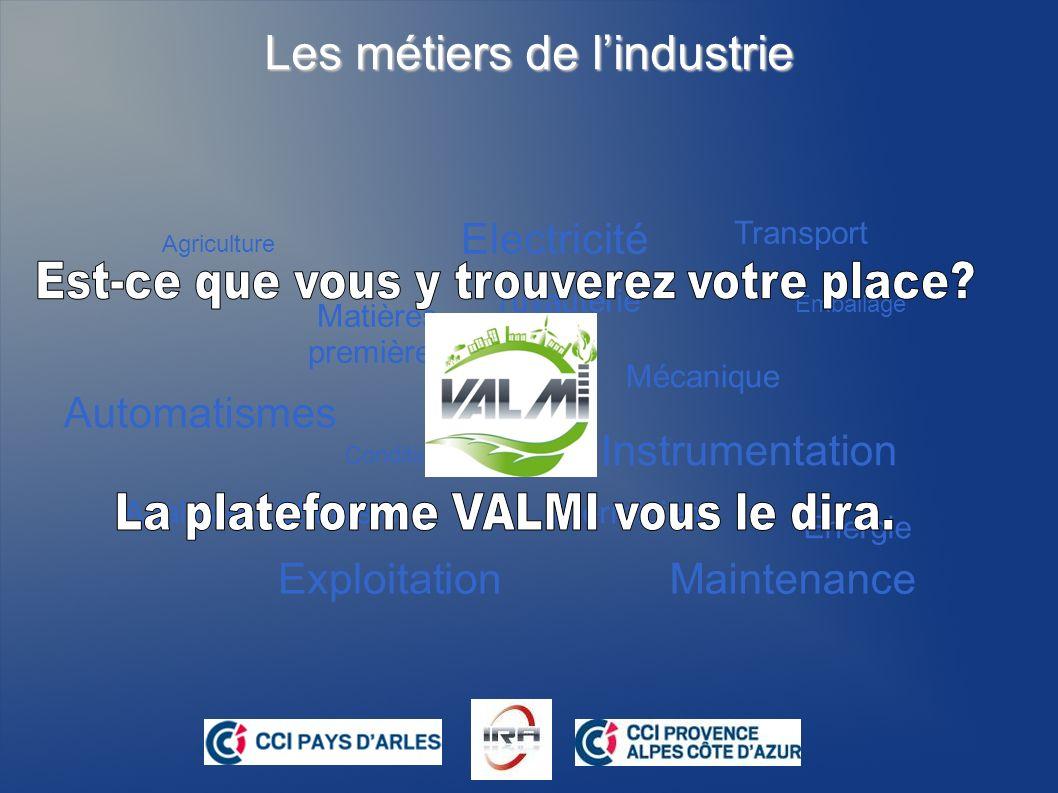 La plate-forme VALMI www.ira-valmi.eu Objectif: Découvrir les métiers de lindustrie et acquérir des compétences en Technologie à l aide d un sérious game Autour dune agglomération urbaine virtuelle, cet outil ludique et captivant vous présente les métiers industriels.