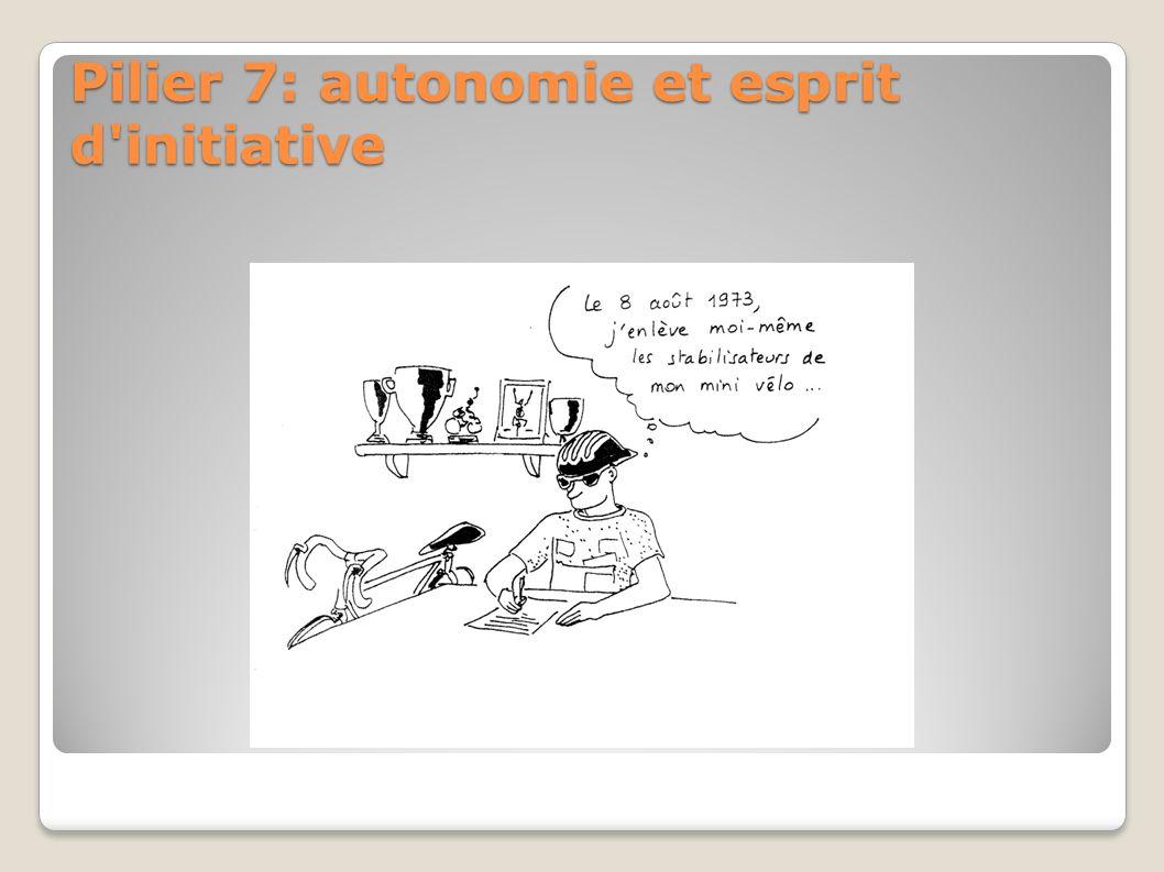 Pilier 7: autonomie et esprit d'initiative