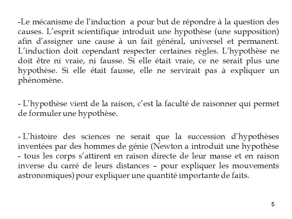 6 2/ Le programme scientifique 1° Quelle est la nature du fait général .