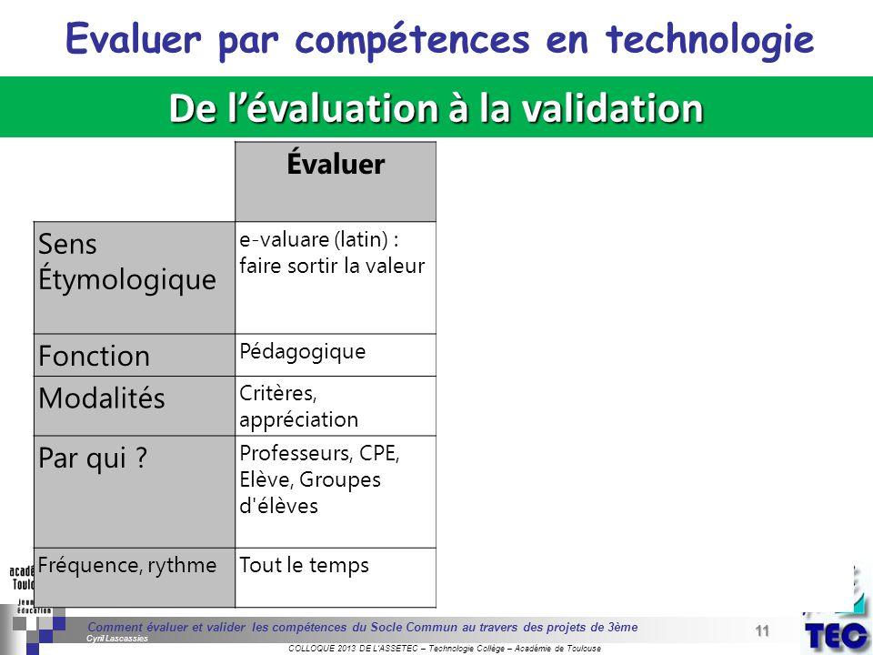 11 Séminaire « Définition de Produits » : méthodologie de définition dune pièce GREC INITIALES COLLOQUE 2013 DE LASSETEC – Technologie Collège – Acadé