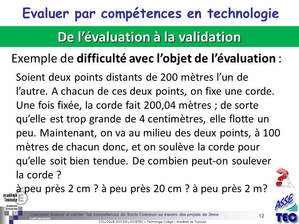 12 Séminaire « Définition de Produits » : méthodologie de définition dune pièce GREC INITIALES COLLOQUE 2013 DE LASSETEC – Technologie Collège – Acadé