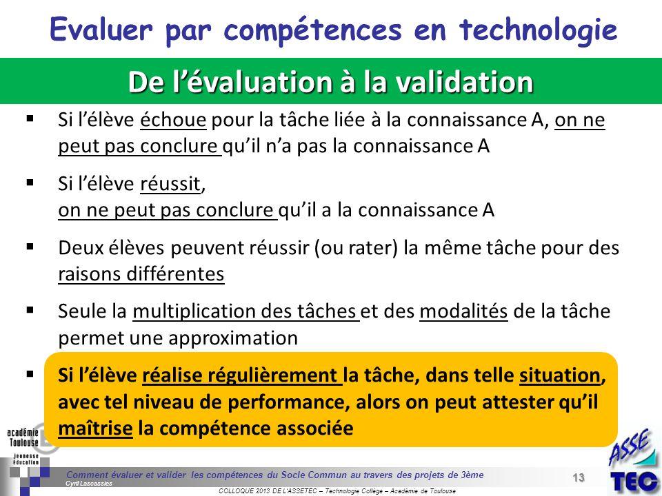 13 Séminaire « Définition de Produits » : méthodologie de définition dune pièce GREC INITIALES COLLOQUE 2013 DE LASSETEC – Technologie Collège – Acadé