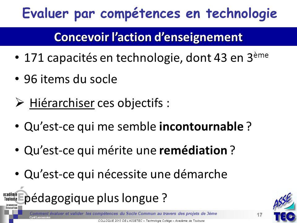 17 Séminaire « Définition de Produits » : méthodologie de définition dune pièce GREC INITIALES COLLOQUE 2013 DE LASSETEC – Technologie Collège – Acadé
