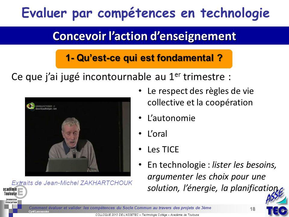 18 Séminaire « Définition de Produits » : méthodologie de définition dune pièce GREC INITIALES COLLOQUE 2013 DE LASSETEC – Technologie Collège – Acadé