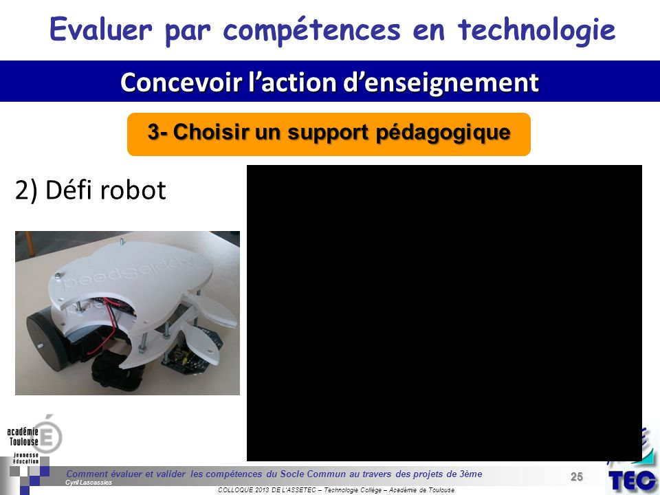 25 Séminaire « Définition de Produits » : méthodologie de définition dune pièce GREC INITIALES COLLOQUE 2013 DE LASSETEC – Technologie Collège – Acadé