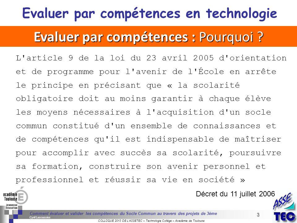 3 Séminaire « Définition de Produits » : méthodologie de définition dune pièce GREC INITIALES COLLOQUE 2013 DE LASSETEC – Technologie Collège – Académ