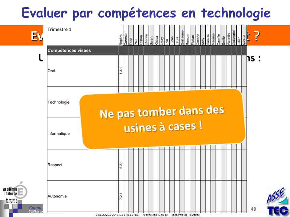 49 Séminaire « Définition de Produits » : méthodologie de définition dune pièce GREC INITIALES COLLOQUE 2013 DE LASSETEC – Technologie Collège – Acadé
