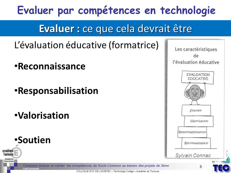 8 Séminaire « Définition de Produits » : méthodologie de définition dune pièce GREC INITIALES COLLOQUE 2013 DE LASSETEC – Technologie Collège – Académ