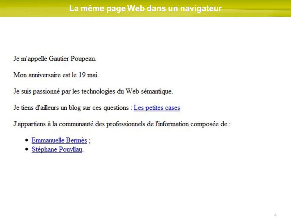 4 La même page Web dans un navigateur