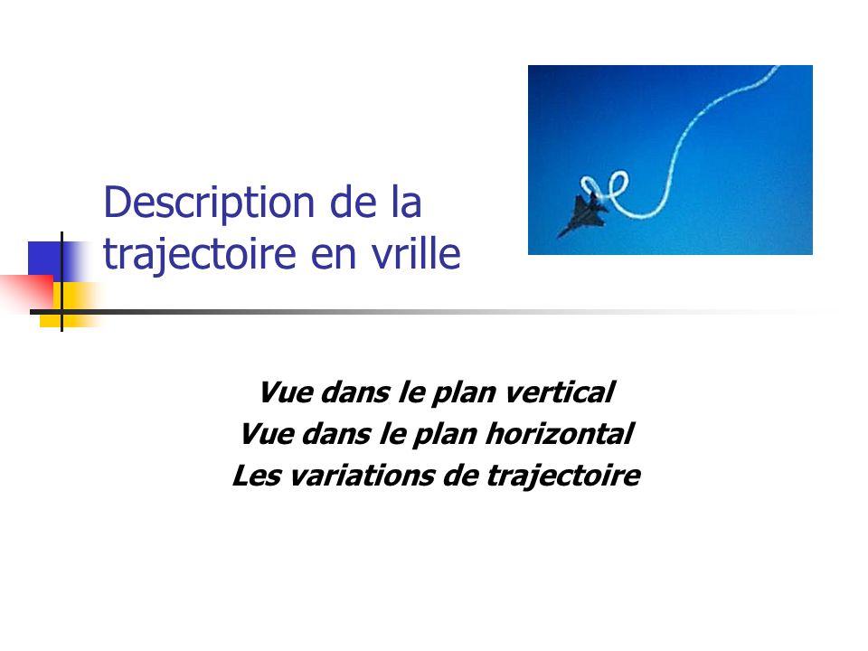 Description de la trajectoire en vrille Vue dans le plan vertical Vue dans le plan horizontal Les variations de trajectoire