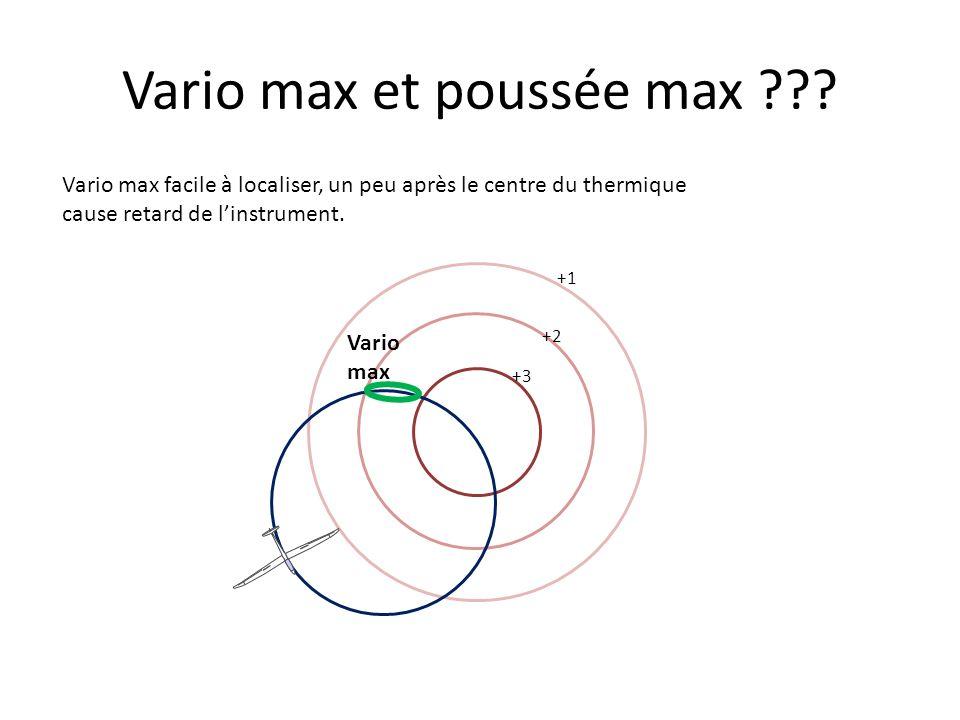 Vario max et poussée max .