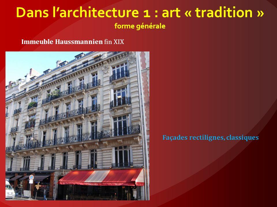Dans larchitecture 1 : art nouveau forme générale Gaudi, Barcelone, Espagne Des formes courbes, des céramiques, mais des pierres, du fer, du béton, du verre.