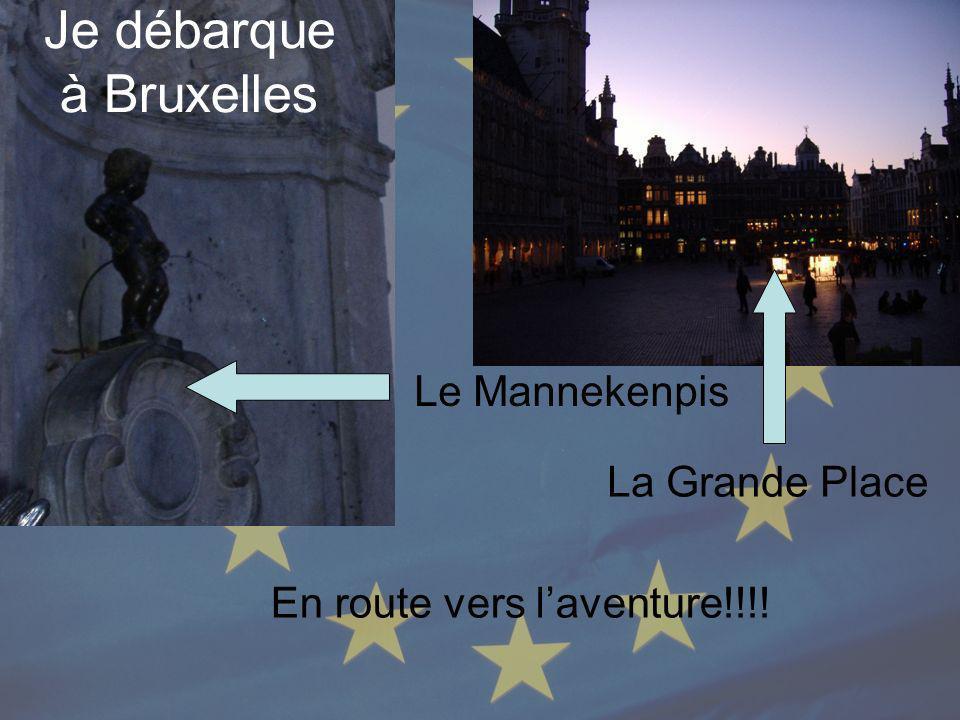 Je débarque à Bruxelles Le Mannekenpis La Grande Place En route vers laventure!!!!
