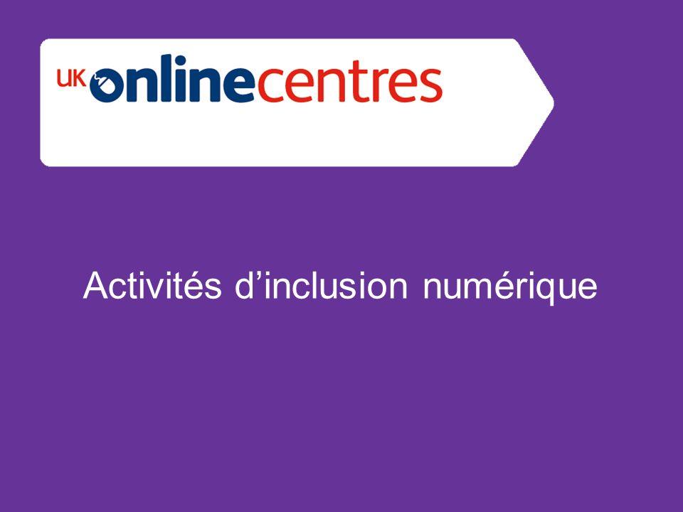 Activités dinclusion numérique