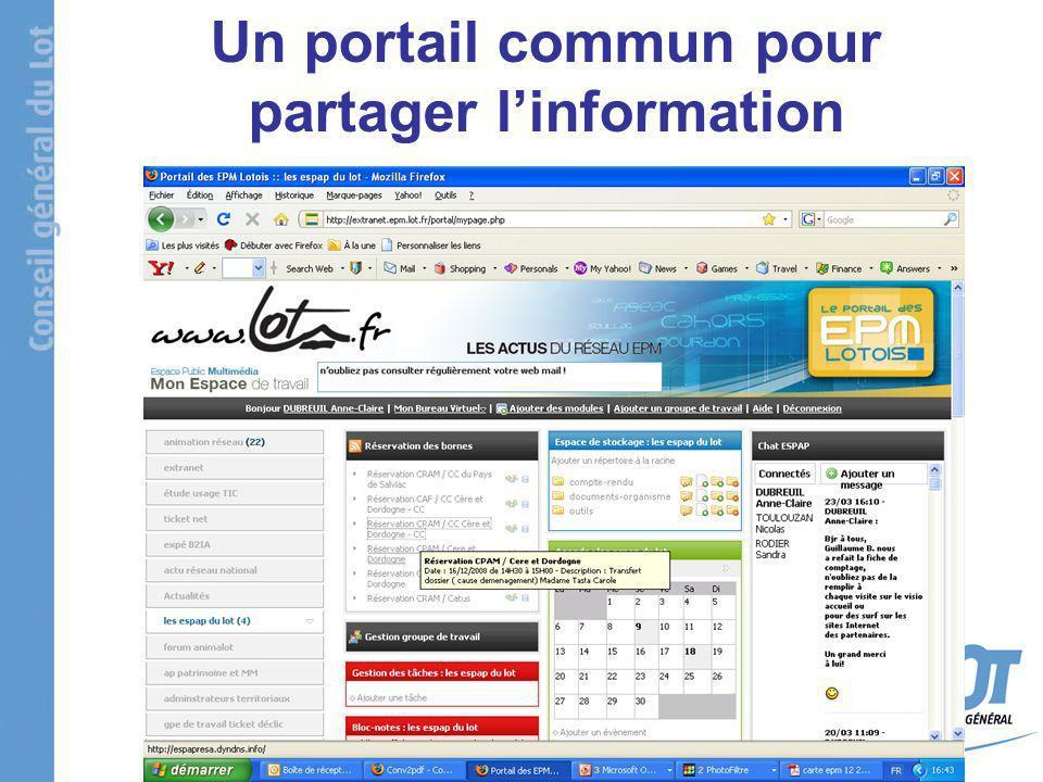 Un portail commun pour partager linformation