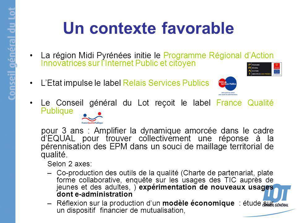 Un contexte favorable La région Midi Pyrénées initie le Programme Régional dAction Innovatrices sur lInternet Public et citoyen LEtat impulse le label