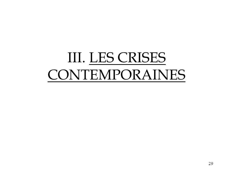 29 III. LES CRISES CONTEMPORAINES