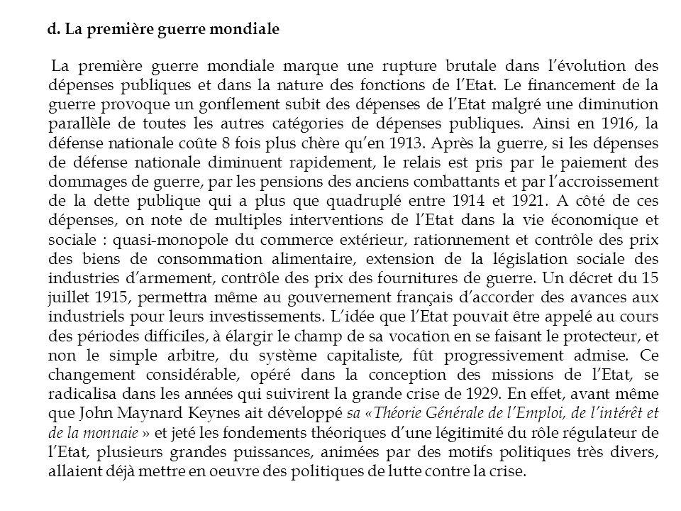 Par la suite, les économistes néoclassiques (Pigou, Samuelson…) vont admettre que lEtat peut avoir une action correctrice dans certains cas.