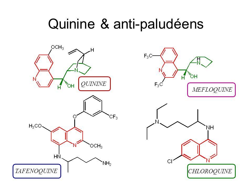 Quinine & anti-paludéens QUININE MEFLOQUINE CHLOROQUINE TAFENOQUINE