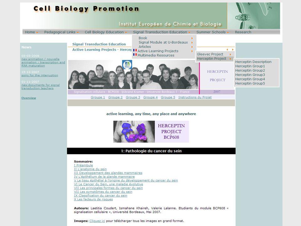 Hiérarchie Organisme Système dorganes Organe Tissu Cellule (+ Matrice Extracellulaire) Organites Micro domaines de protéines et de lipides Molécules Fonction spécifique (par exemple) -Contraction – muscle -Production des anticorps – cellules immunitaires -Frontière – épithélium et endothélium -Production des hormones – glandes endocrines -Transport des signaux –nerfs -Senseurs – le barorécepteur (vaisseaux, derme), photorécepteur (rétine)