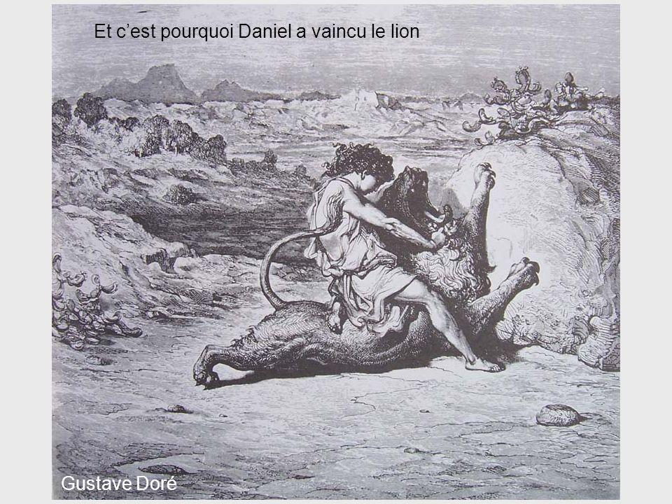 Gustave Doré Et cest pourquoi Daniel a vaincu le lion