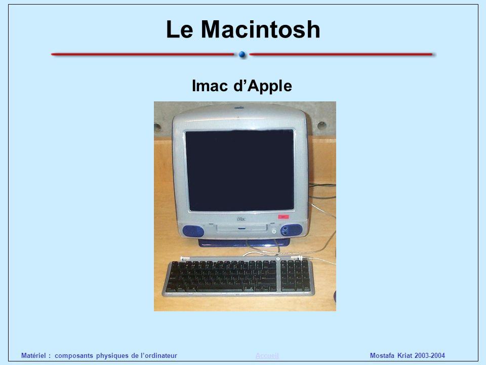 Mostafa Kriat 2003-2004Matériel : composants physiques de lordinateurAccueil Le Personal Computer