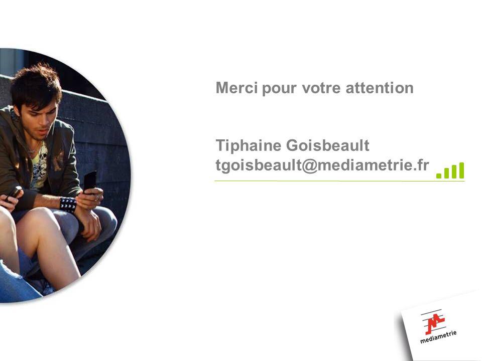 Merci pour votre attention Tiphaine Goisbeault tgoisbeault@mediametrie.fr