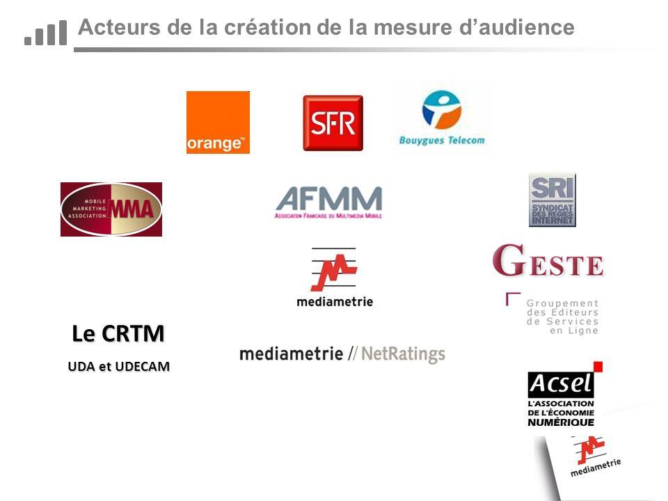 Acteurs de la création de la mesure daudience Le CRTM UDA et UDECAM