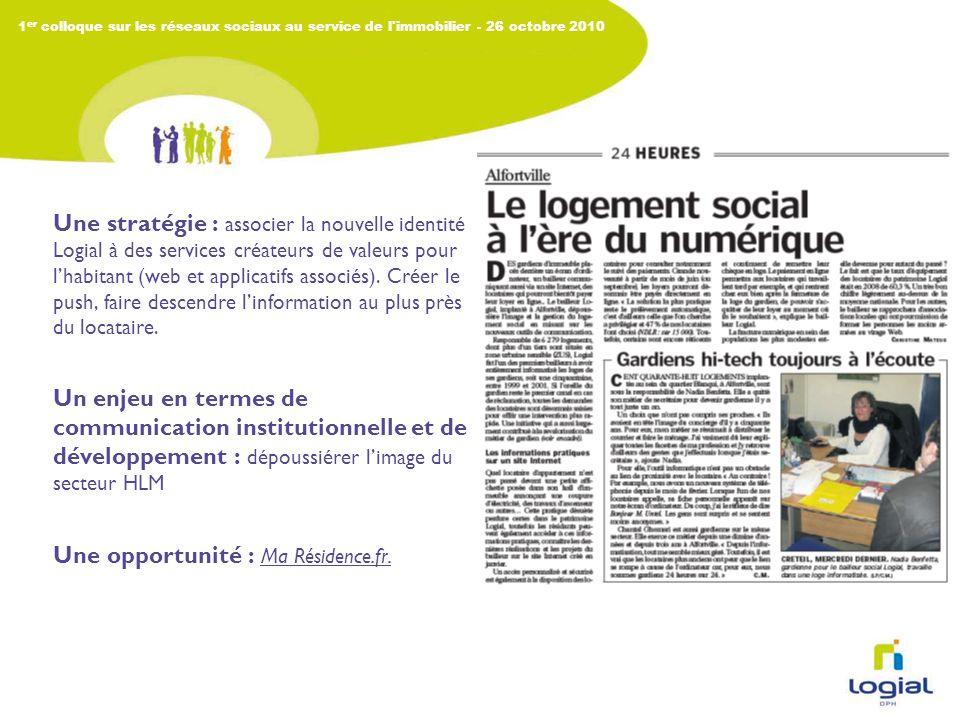 1 er colloque sur les réseaux sociaux au service de l immobilier Un buzz : lascenseur numérique !