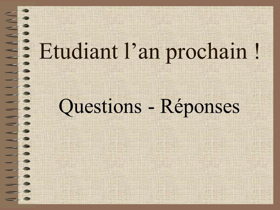 Etudiant lan prochain ! Questions - Réponses