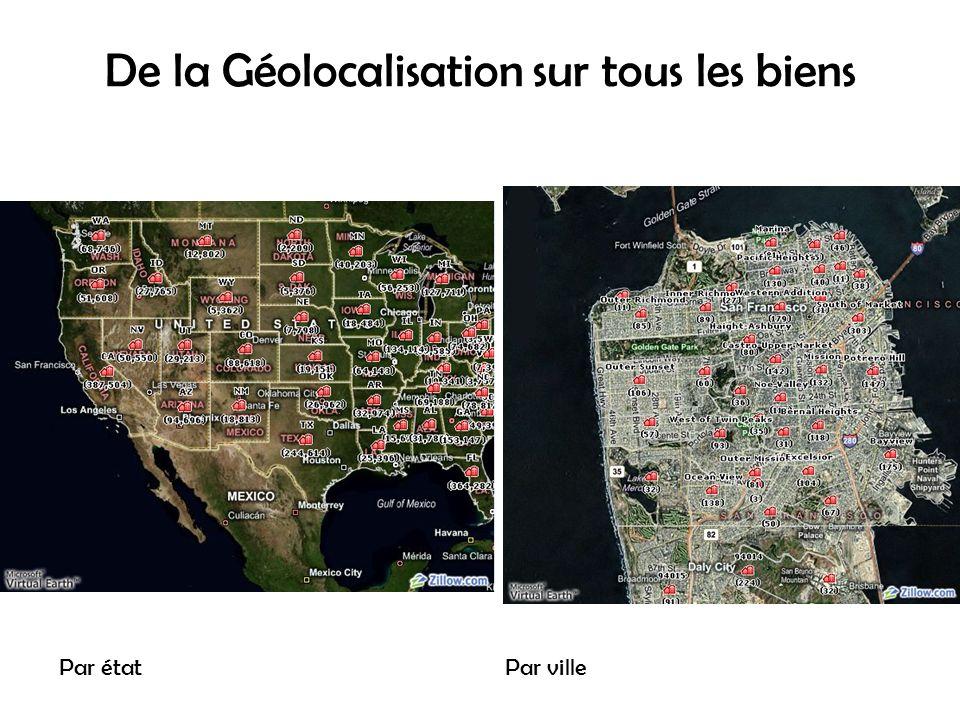 De la Géolocalisation sur tous les biens Par étatPar ville