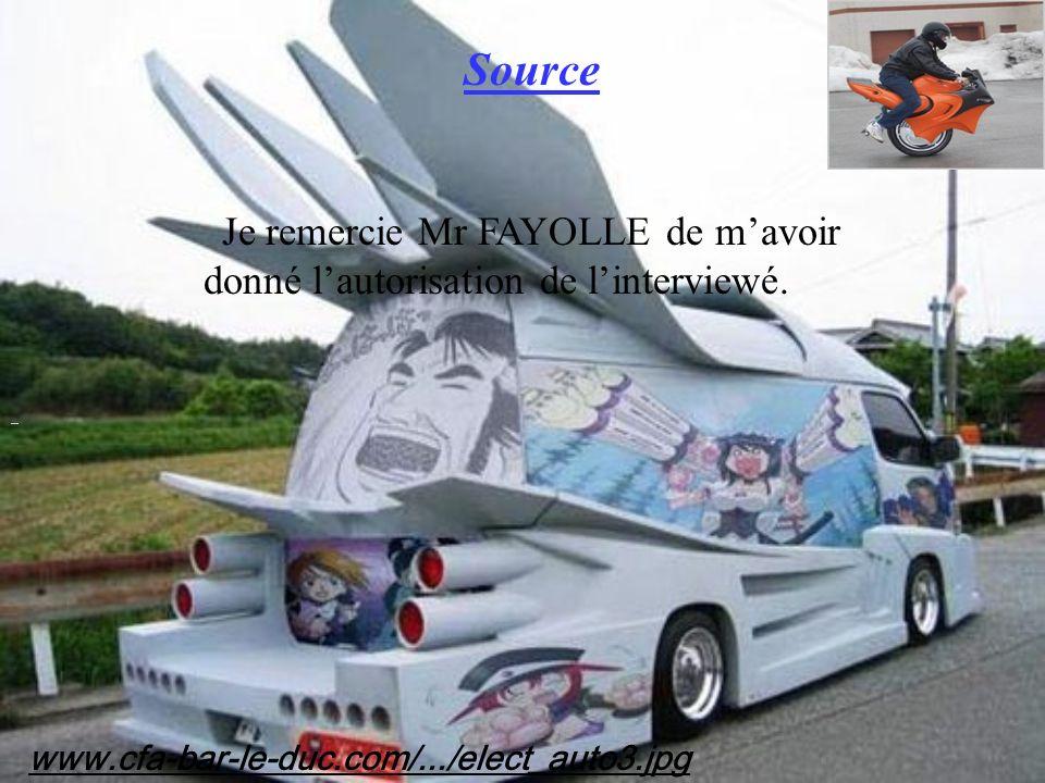 Source www.cfa-bar-le-duc.com/.../elect_auto3.jpg Je remercie Mr FAYOLLE de mavoir donné lautorisation de linterviewé.