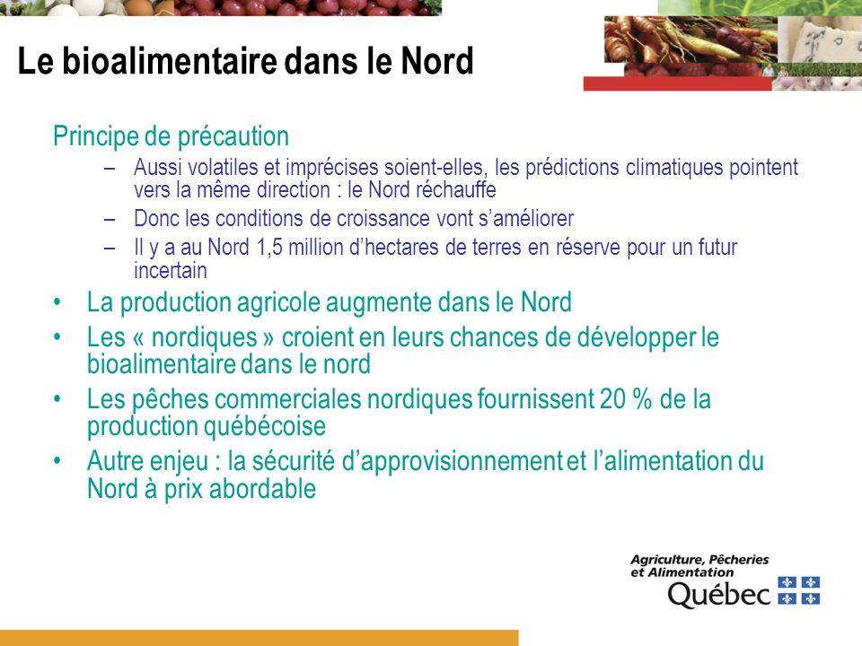2009-2011 : consultation et planification Tournée régionale (printemps 2010) Recueil des plans de développement Synthèse (portrait/vision/axes) Appel de projets Groupe de travail bioalimentaire du Nord