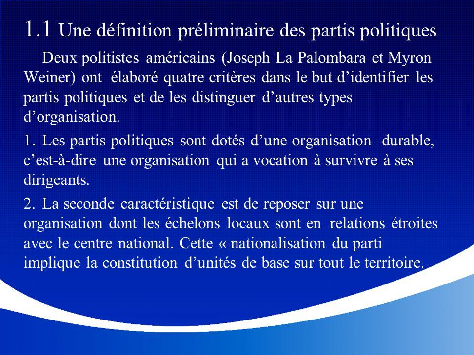 Au-delà de cette compétition interne aux partis, la compétition entre les partis est organisée en fonction de certaines logiques sociales et politiques.