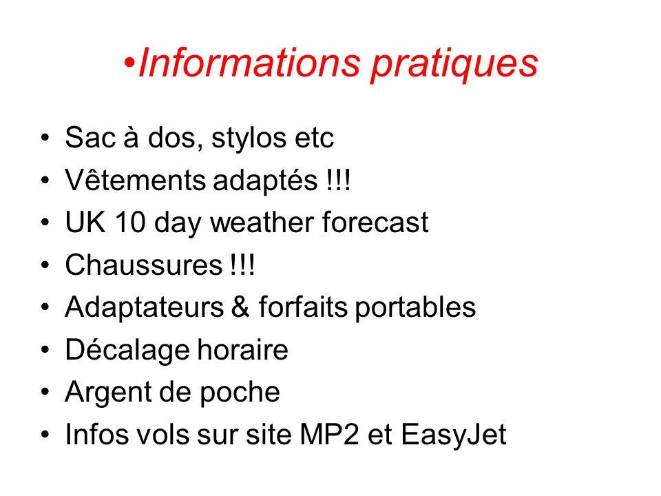 Dr Challoners à Jean Vilar Le voyage retour est prévu du samedi 19 au vendredi 25 février.