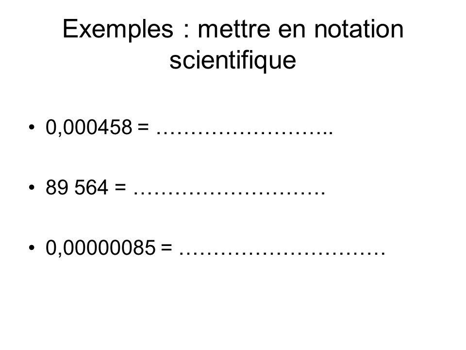 En physique, les valeurs utilisées ont des unités.