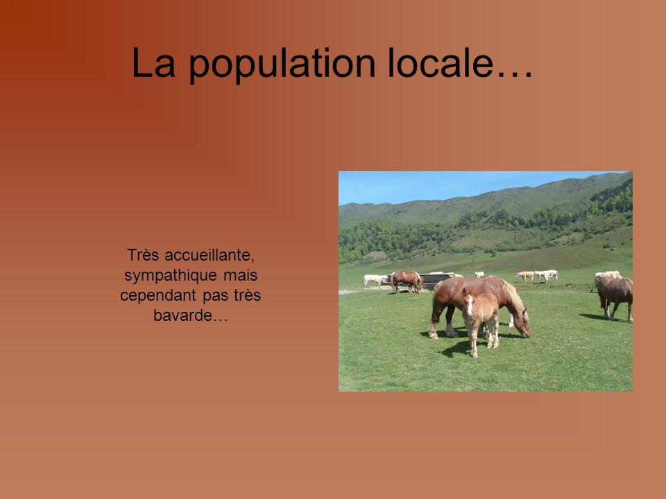 La population locale… Très accueillante, sympathique mais cependant pas très bavarde…