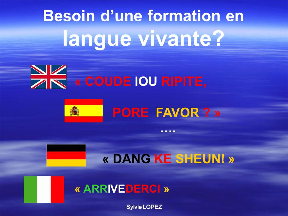 Sylvie LOPEZ Tes années LYCEE seront des années PRIVILEGIEES pour la maîtrise de 2 ou 3 langues vivantes.