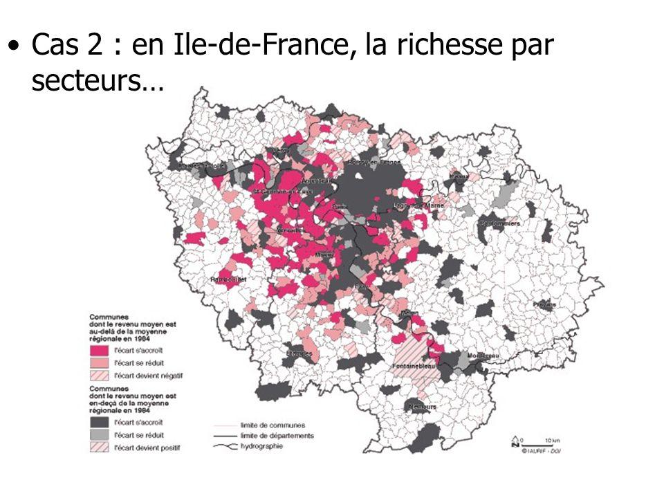 Cas 3 en Ile- de-France, ou la répartition des populations immigrées Source: Insee, Atlas des populations immigrée en Ile-de-France